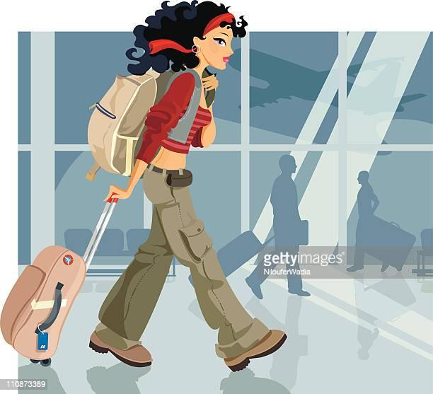 travel - airport terminal stock illustrations, clip art, cartoons, & icons