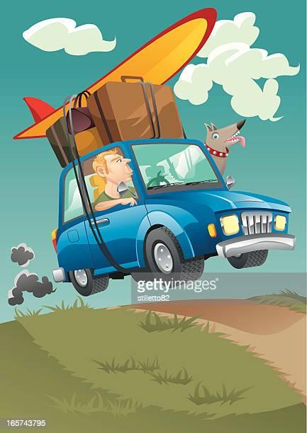 illustrations, cliparts, dessins animés et icônes de voyage ! - chien humour