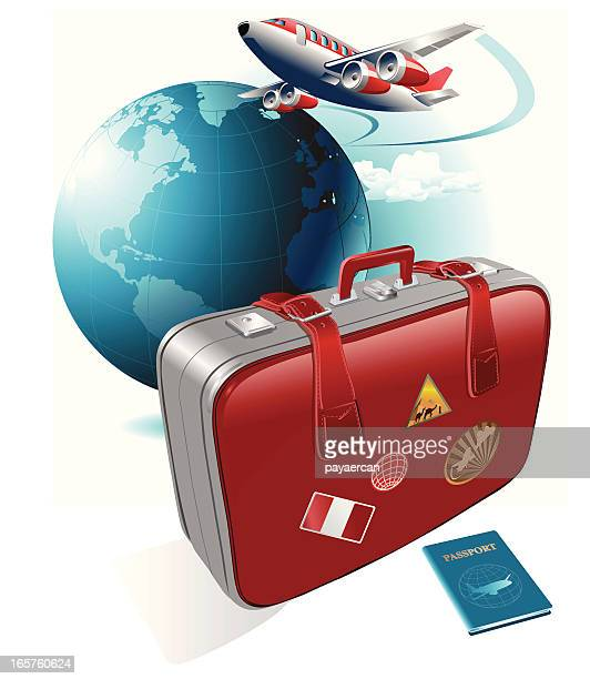 travel - luggage tag stock illustrations, clip art, cartoons, & icons