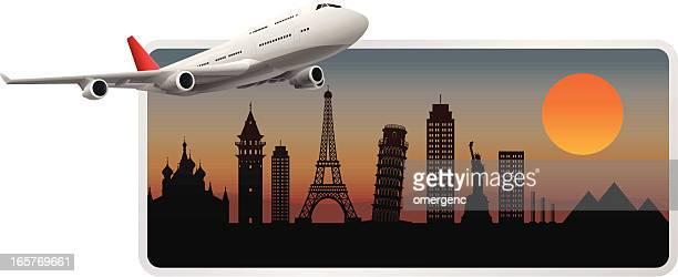 travel - air travel stock illustrations, clip art, cartoons, & icons