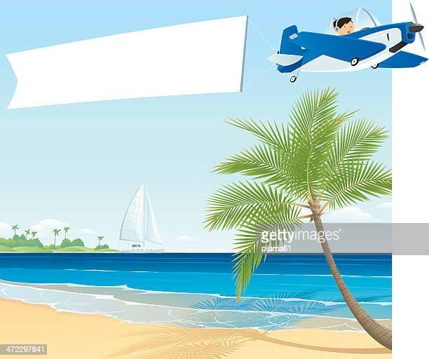 travel - beach holiday stock illustrations, clip art, cartoons, & icons