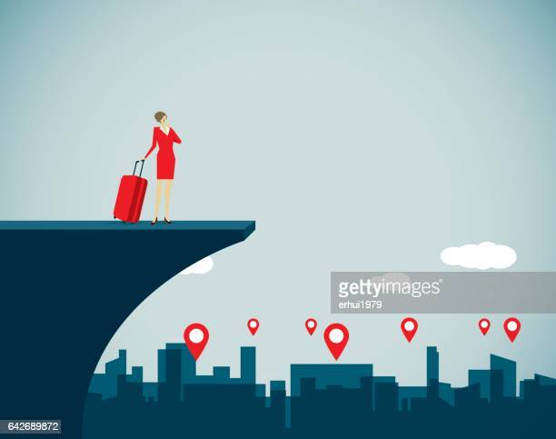 travel - locator map stock illustrations