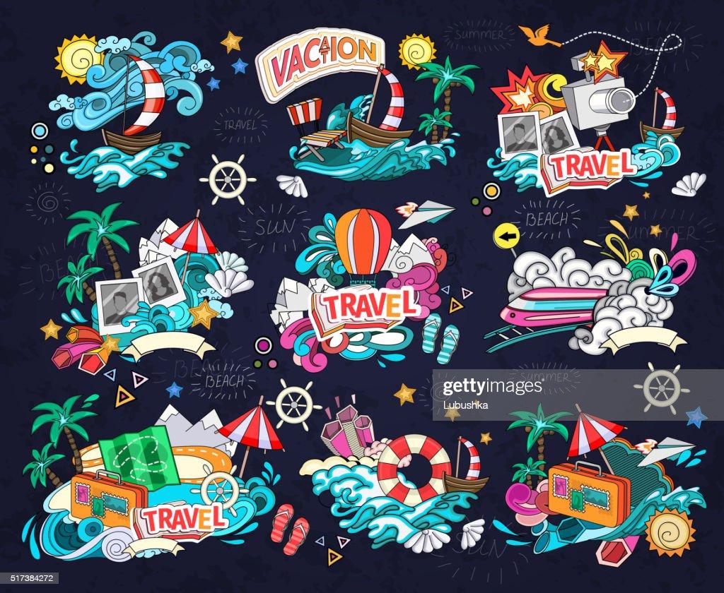 Travel vector illustration.
