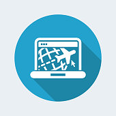 Travel web agency icon