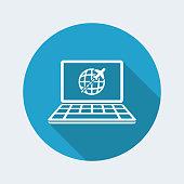 Travel website concept - Vector flat icon