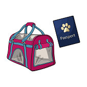 Travel with cats, dogs - transportation bag, carrier and pet passport