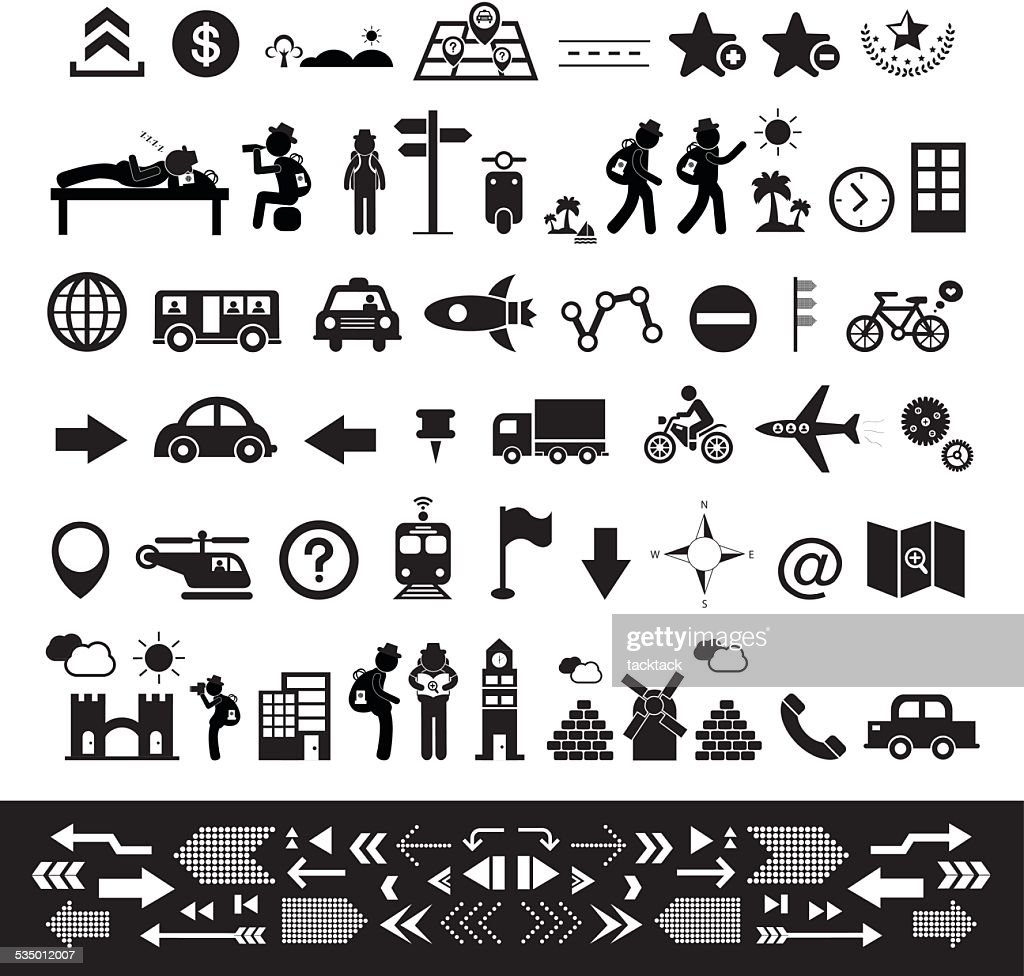 traveler explorer icon set