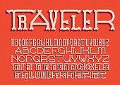 Traveler western alphabet