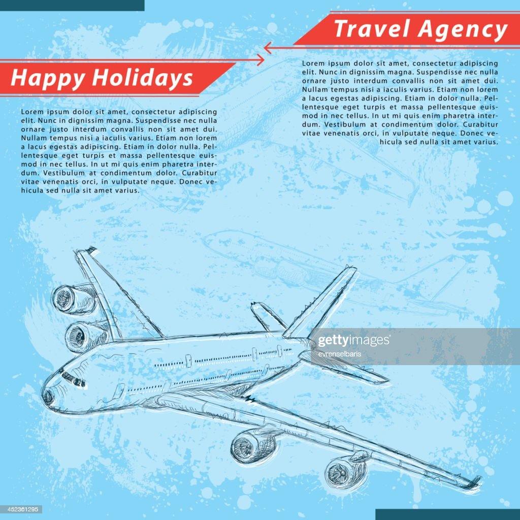 Travelholiday Background Vector Art