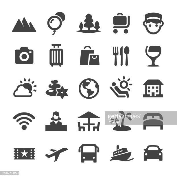 traveling icons - smart series - business travel stock illustrations