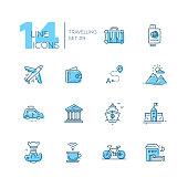 Traveling - line icons set