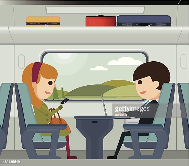 Sie auf einen Zug