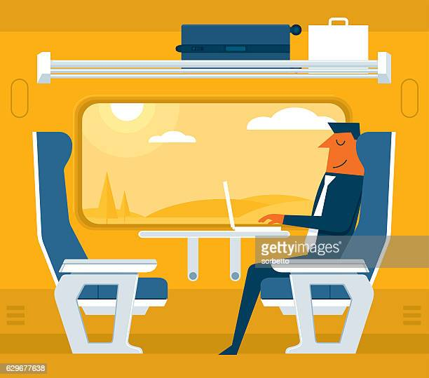 Traveling on a train