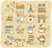 Travel,Landmarks,French,Paris icon set   Mocha Series