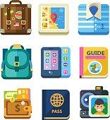 Traveller set on summer vacations. World landmarks