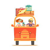 Travelling by car icon