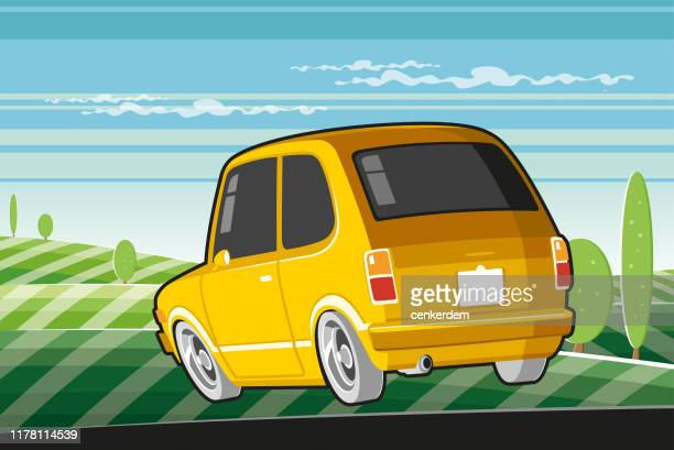 travelling car - car ownership stock illustrations, clip art, cartoons, & icons