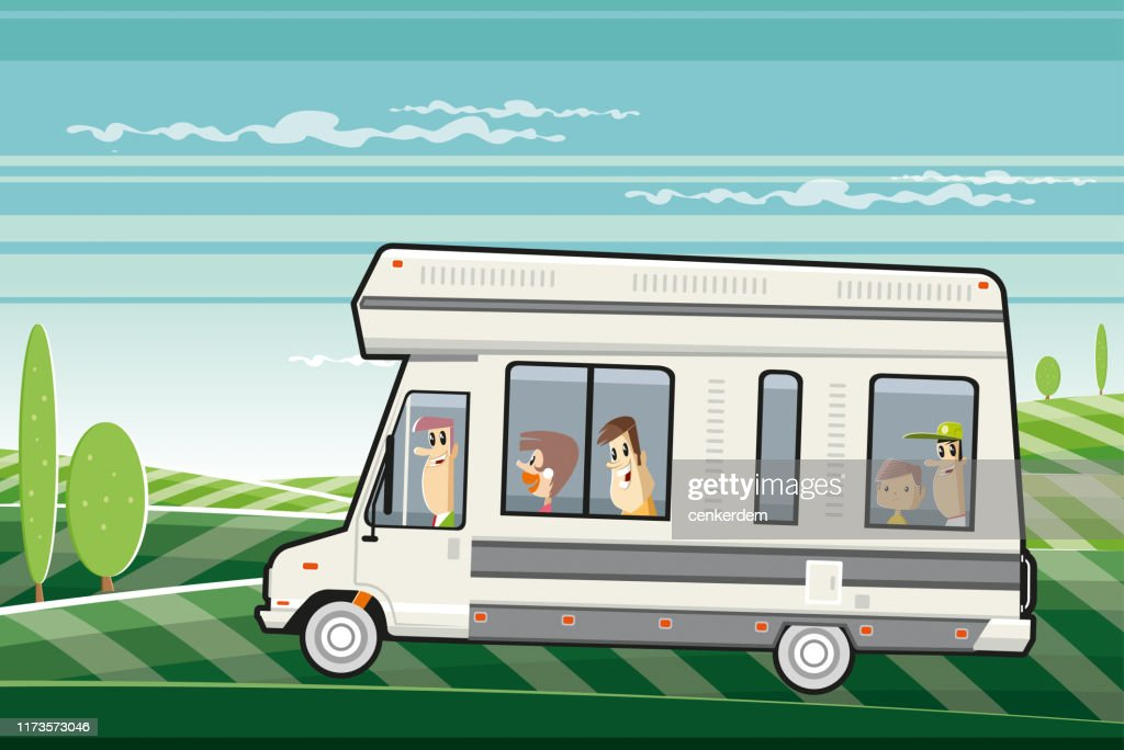 Travelling family : stock illustration