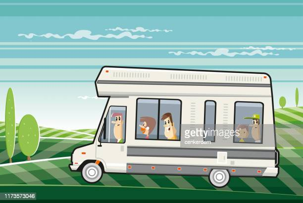 travelling family - car ownership stock illustrations, clip art, cartoons, & icons