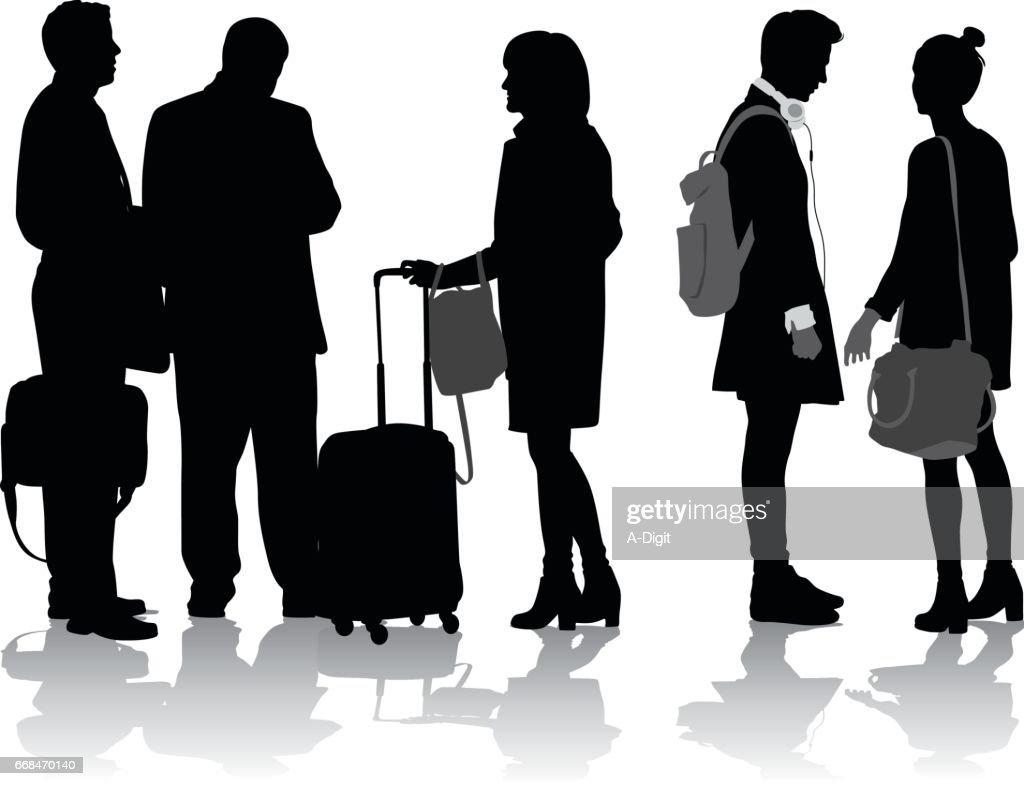 Travelling Groups : stock illustration