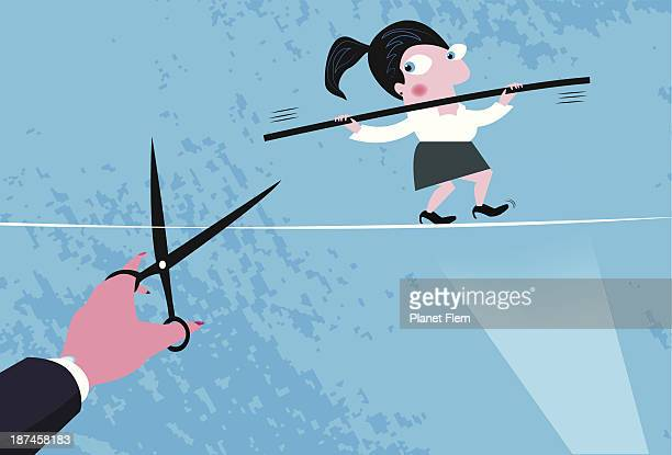 treachery of woman at work - the grass is always greener stock illustrations, clip art, cartoons, & icons