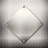 Tread pattern metal with a smooth metal diamond on top