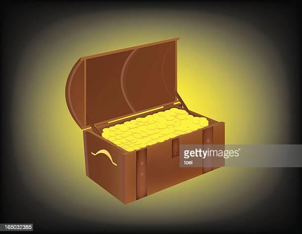 treasure box / treasures - buried stock illustrations, clip art, cartoons, & icons