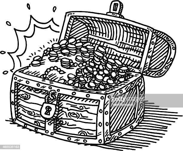 Arca de Tesouro moedas desenho