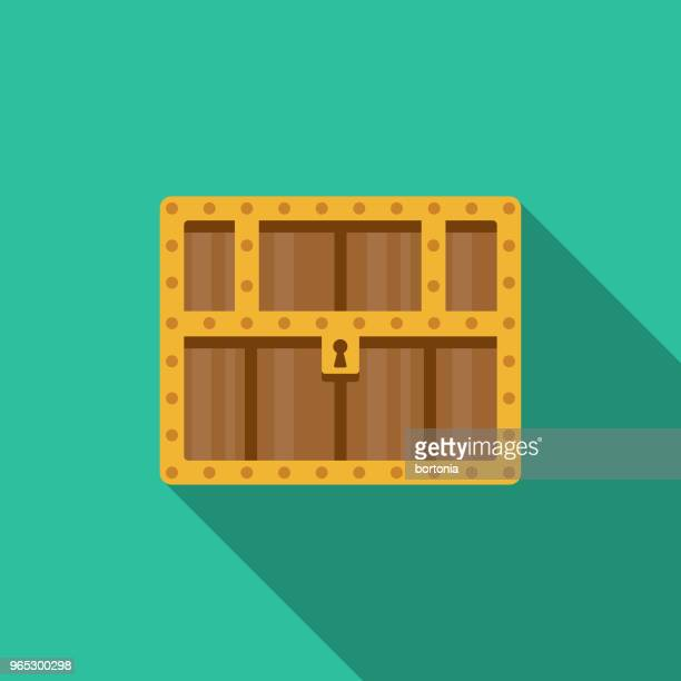 Treasure Chest Flat Design Fantasy Icon