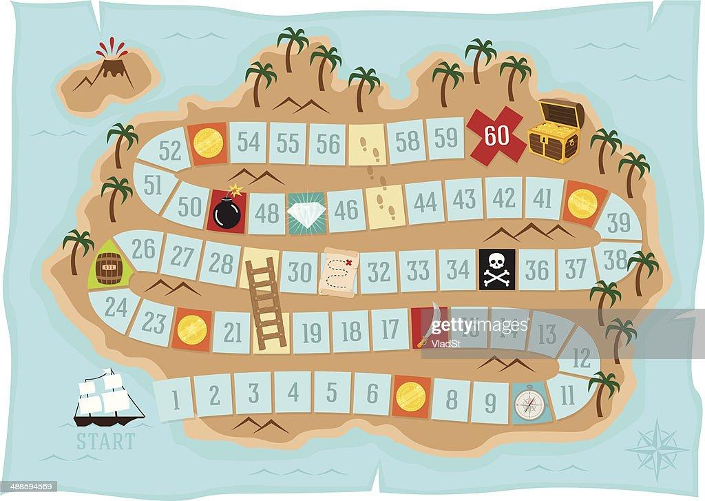 Treasure island - Board game : stock illustration