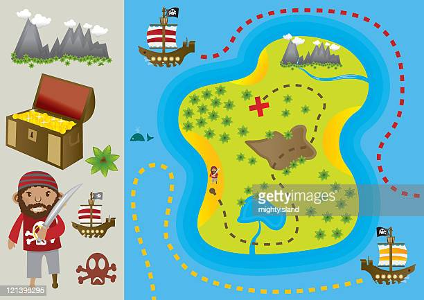 Treasure Map and Elements