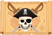Treasure Map and Skull