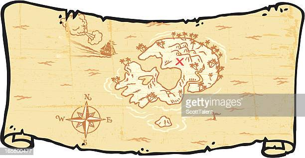 Treasure Map Scroll