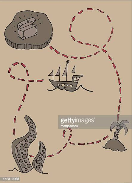 60 Top Treasure Map Stock Illustrations, Clip art, Cartoons, & Icons Cartoon Treasure Map on