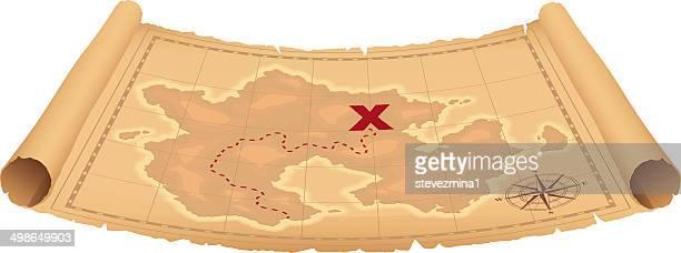 宝の地図 - 旧約聖書点のイラスト素材/クリップアート素材/マンガ素材/アイコン素材