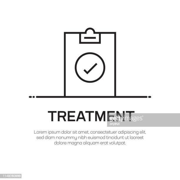 treatment vector line icon - simple thin line icon, premium quality design element - slimy stock illustrations, clip art, cartoons, & icons
