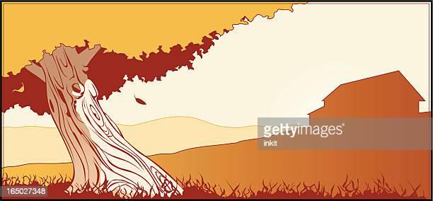 tree and farm - tree bark stock illustrations, clip art, cartoons, & icons