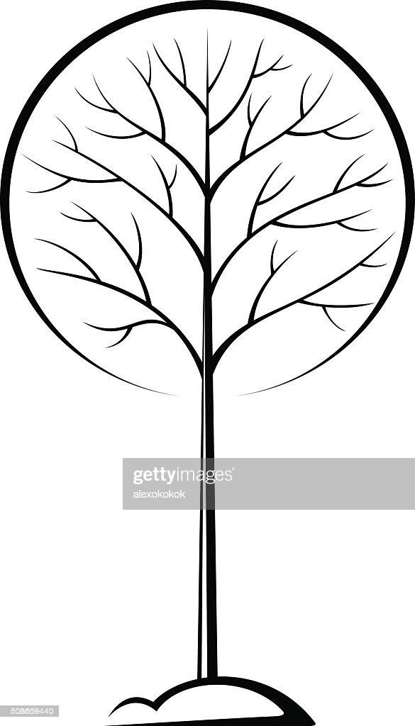 Tree Black Pictogram : Vector Art