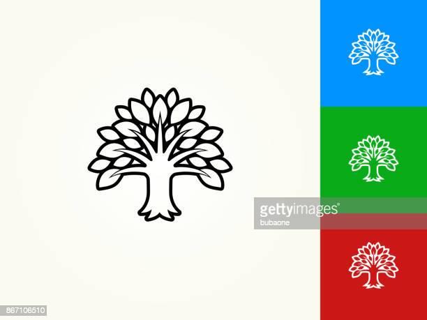 Tree Black Stroke Linear Icon