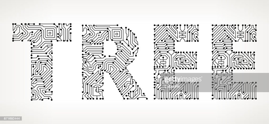 Tree Circuit Board Vector Buttons Vector Art   Getty Images