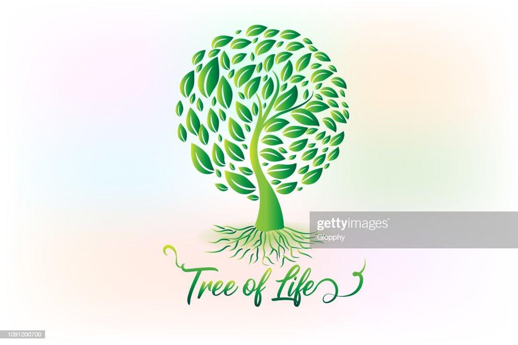 Tree ecology symbol icon vector design