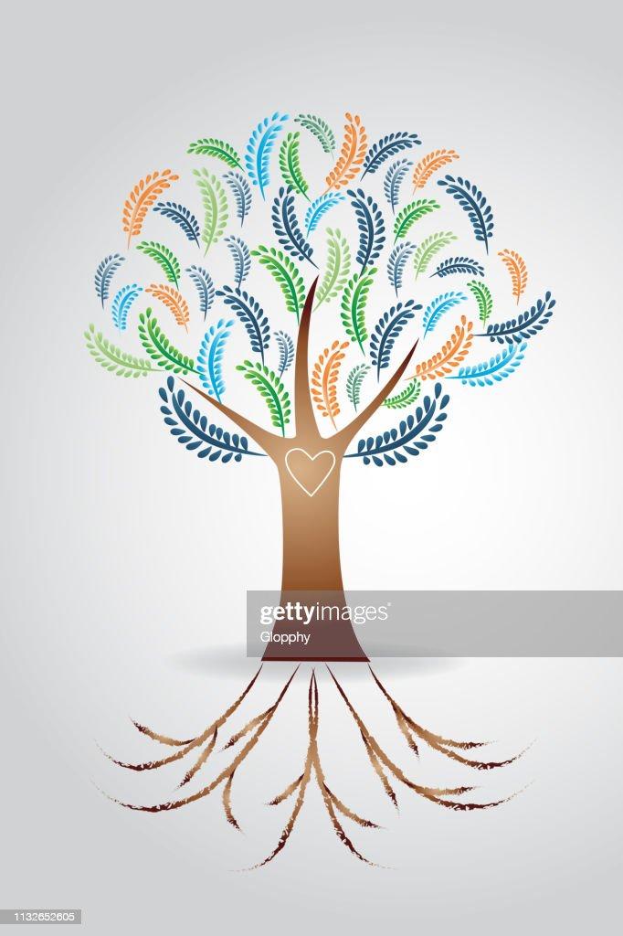 Tree ecology vector