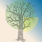 Tree. Go green. Design Template. vector illustration