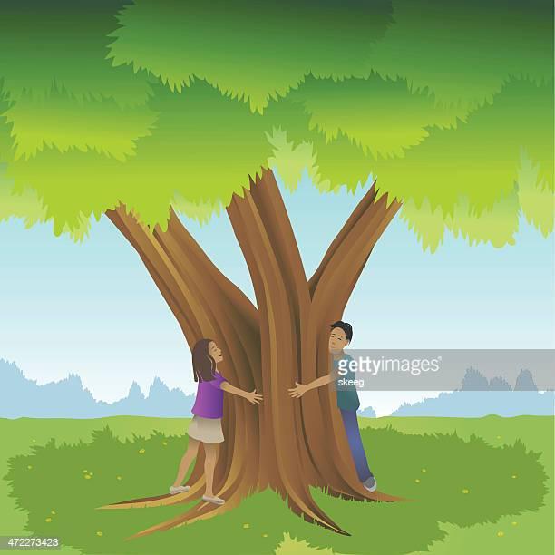 Tree Hugger Stock Illustrations - Getty Images