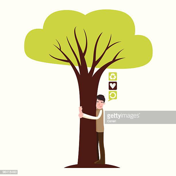 30 Top Tree Hugger Stock Illustrations Clip Art Cartoons Icons