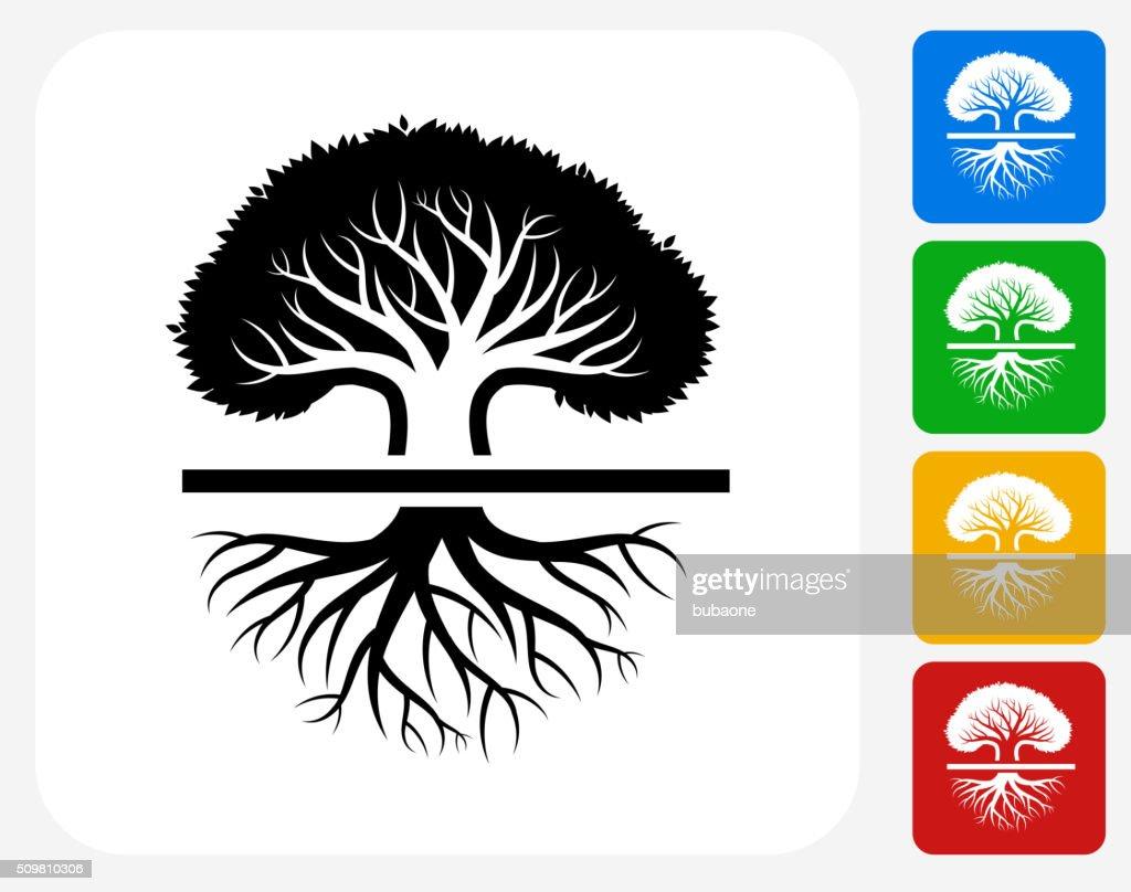 Tree Icon Flat Graphic Design : stock illustration