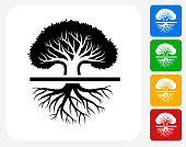 Tree Icon Flat Graphic Design