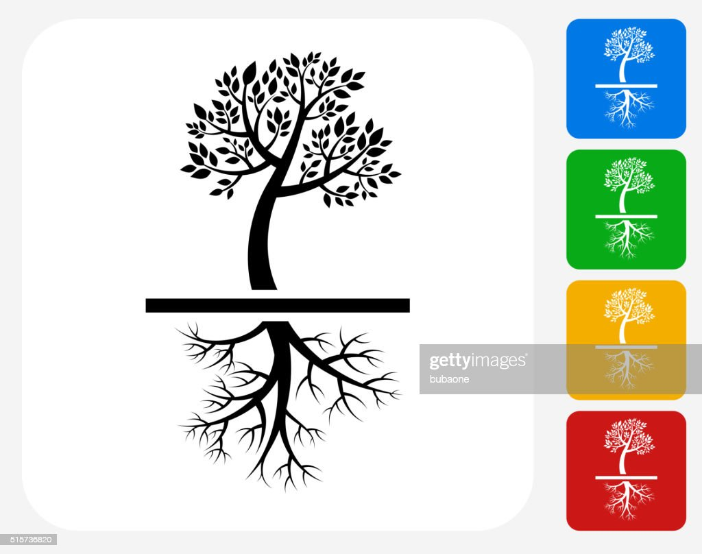 Tree Icon Flat Graphic Design : stock illustration
