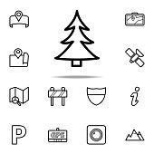 tree icon. Navigation icons universal set for web and mobile