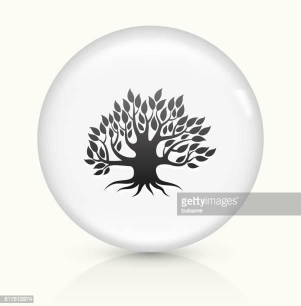 Tree icon on white round vector button